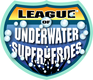 league of underwater superheroes logo